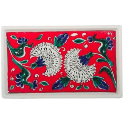 Red Iznik Ceramic Tray