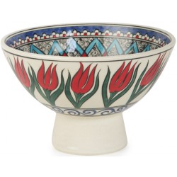 Ceramic Bowl with Tulip Patterns