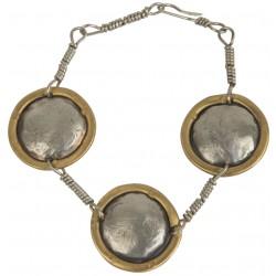 Alpaca Bracelet with Brass