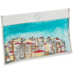 City Oil on Canvas Wallet