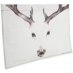 The Deer Oil on Canvas Laptop Case / Clutch