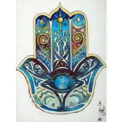 Fatima's Hand (Hamsa) Glass-bottom Painting