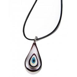 Drop Glass Amulet Necklace - 1