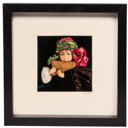 Pan Flute Playing Girl Tragacanth Doll