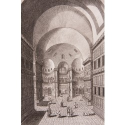 Interior of Hagia Sophia Engraving