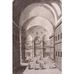 Interior of Hagia Sophia Engraving