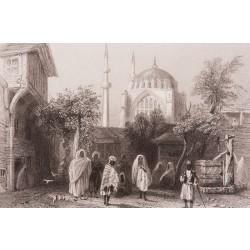 Slave Market at İstanbul Nuruosmaniye Engraving