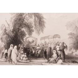 Women at Göksu Park İstanbul Engraving