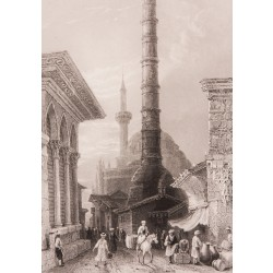 Çemberlitaş Column in İstanbul Engraving