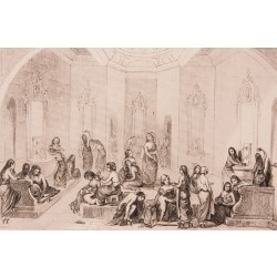 The Women's Hamam (Turkish Bath) Engraving