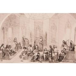 The Women's Hamam (Turkish Bath) Engraving