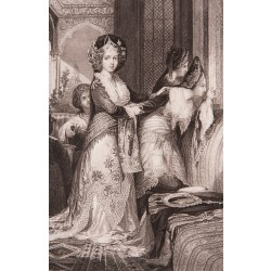 Handmaiden at Harem Engraving