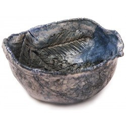 Porcelain Bowl with Leaf Pattern