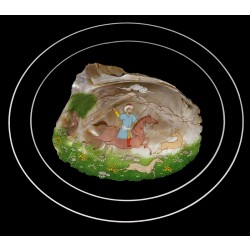 Hunting Scene Miniature in Mother of Pearl
