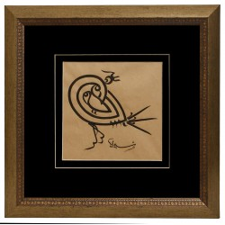 16th Century Dervish Lodge Script Basmala in the form of a Bird
