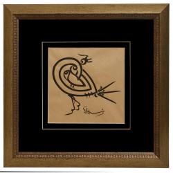 16th Century Dervish Lodge Script Basmala in the form of a Bird
