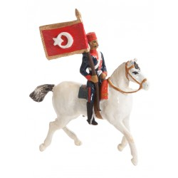 Toy Soldier Ertugrul Regiment Flag Bearer Figure