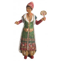 Ottoman Harem: Toy Soldier Woman with Fan Figure
