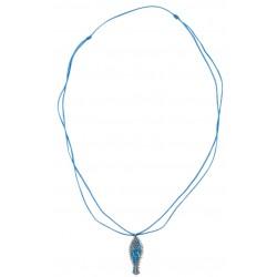 Bedri Rahmi Woman with Fish Necklace - Blue