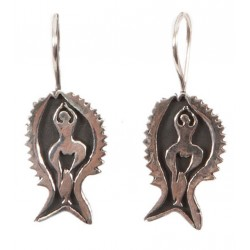 Bedri Rahmi Fish Earring - Black
