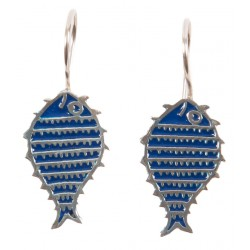 Bedri Rahmi Fish Earring - Dark Blue