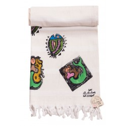 Bedri Rahmi Siren Turkish Hamam Towel / Pestemal
