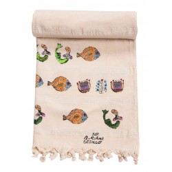 Bedri Rahmi Mixed Patterned Turkish Hamam Towel / Pestemal