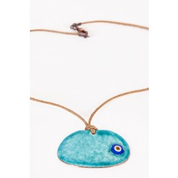Turquoise Evil Eye Enamel Necklace - 3