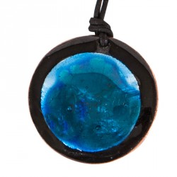 Blue Enamel Necklace - 1