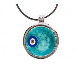 Evil Eye Enamel Necklace