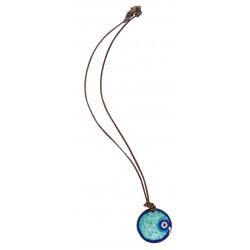 Blue Evil Eye Enamel Necklace - 2