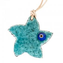 Star Evil Eye Enamel Necklace
