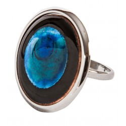 Blue Enamel Ring - M