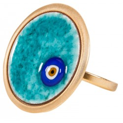 Evil Eye Enamel Ring - M