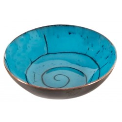 Turquoise Enamel Plate - 2