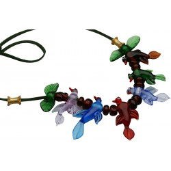 Beykoz Birds Glass Necklace