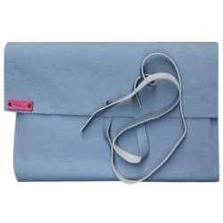 Leather Book Cover - Blue