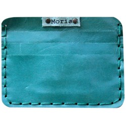 Leather Card Wallet - Blue