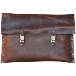Leather Clutch - Brown