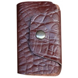 Leather Keyholder - Brown
