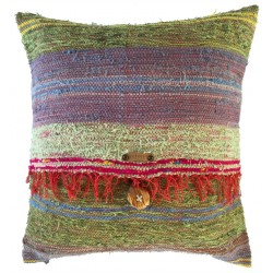 Rag Rug Pillow Case - 5