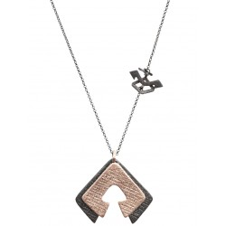 Rhodium Plated Hands on the Hips Necklace
