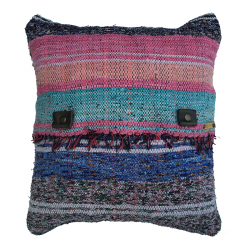 Rag Rug Pillow Case - 2