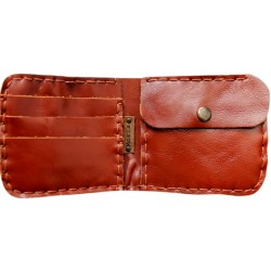 Leather Wallet - Carmine Brown
