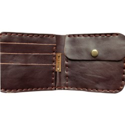 Leather Wallet - Chocolate Brown