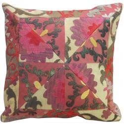 Suzani Pink and Green Pillow Slip