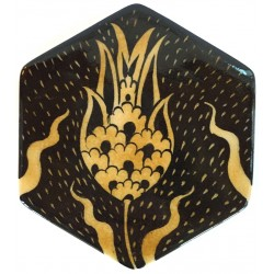 Tulip Patterned Hexagon Nicea Porcelain Coaster