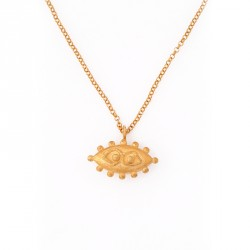 """Eye"" - 24-carat Gold Plated Silver Necklace"