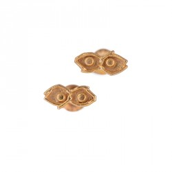 """Eye"" - 24-carat Gold Plated Silver Earrings"