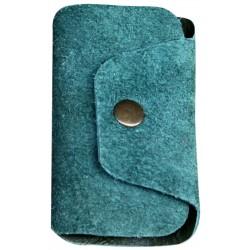 Leather Keyholder - Green
